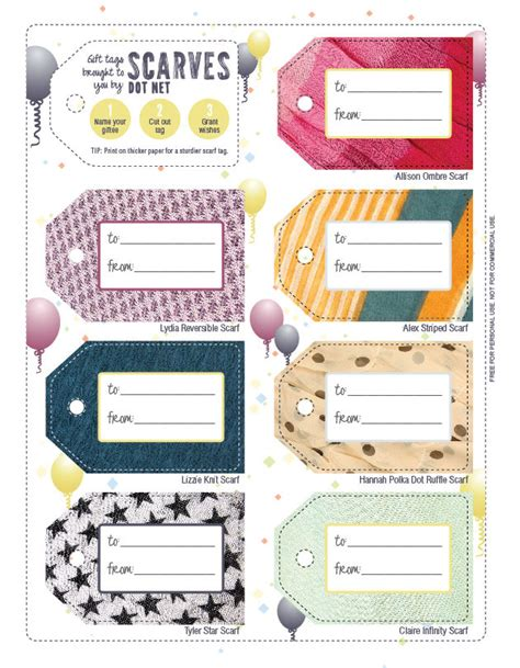 free printable birthday gift tags personalized free downloadable gift tags for every occasion