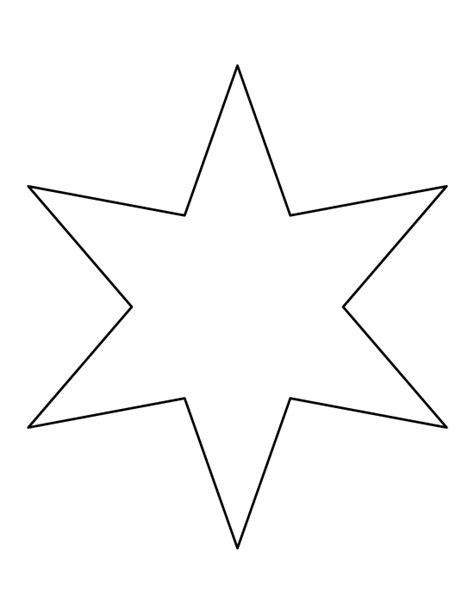 printable star a4 six pointed star pattern use the printable outline for