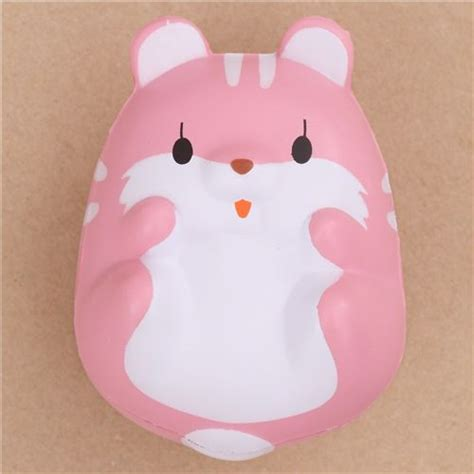 Cutlery Sets Kawaii Eyes Open Pink Hamster Animal Scented Squishy By