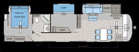 2 bedroom travel trailer floor plans also rv luxe check