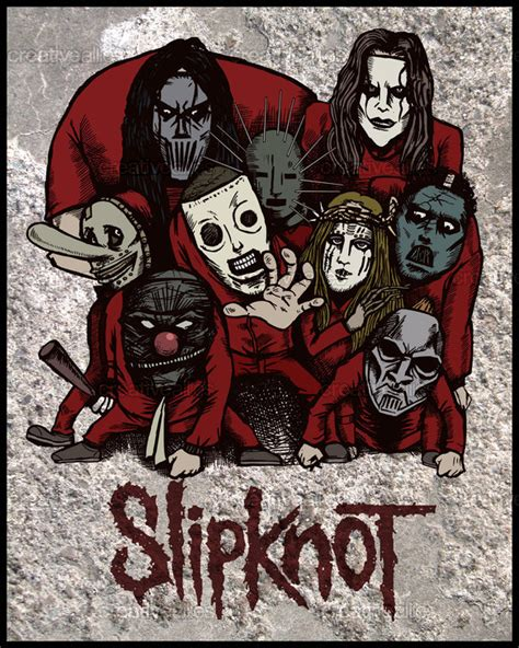 design a poster for slipknot creative allies