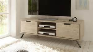 meuble tv design nekho bois avec pied m 233 tal mobilier moss