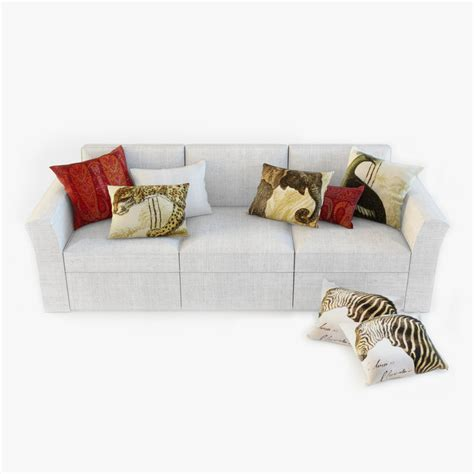 pottery barn sofa pillows 3d model pottery barn sofa pillows