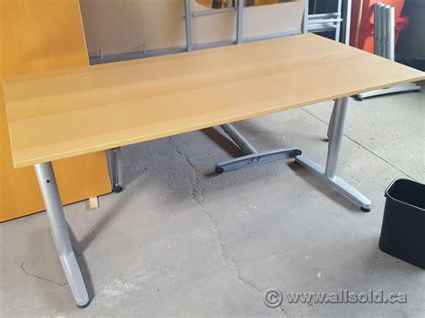 ikea galant 48 quot table desk honey or espresso