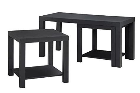 Black End Tables And Coffee Tables Altra Furniture 3 Coffee Table And End Table Set Black Ebay