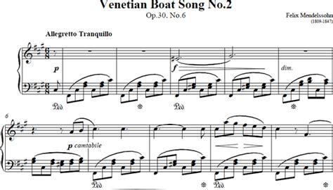 venetian boat song venetian boat song sheet music venetian boat song music score