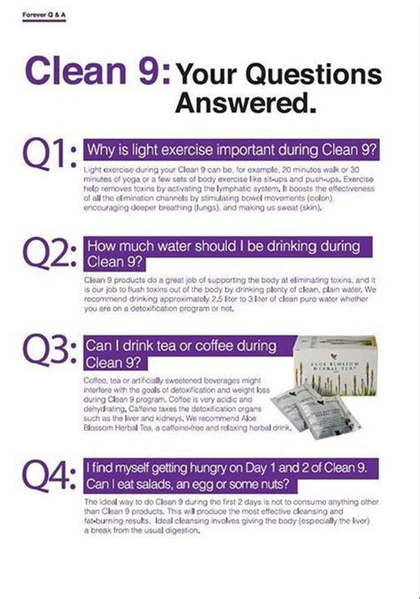 Forever Living Clean 9 Detox Side Effects by 447 Best Clean 9 Diet Images On