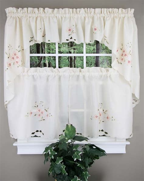 cafe tier curtains garden gate curtains linen lorraine home fashions