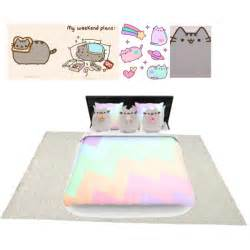 White Flat Weave Rug Pusheen Polyvore