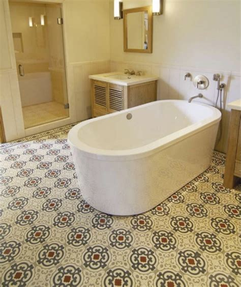 cement tile bathroom floor cement tiles bathrooms original mission tile