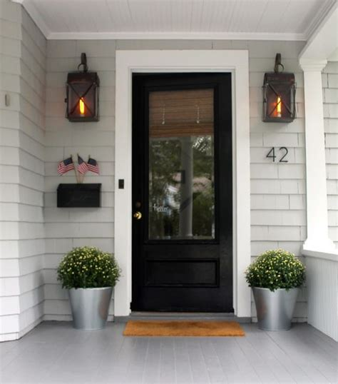 Front Door Screen Insert Simple Is Often Better The Two Black Front Doors And Lovely Things