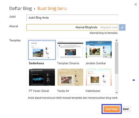 membuat blog gratis dan mudah net cara membuat blog gratis dan mudah
