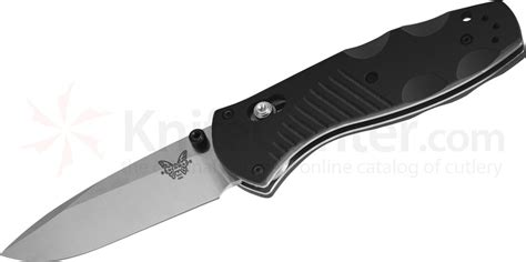 bench made benchmade 585 mini barrage axis assisted 2 91 quot satin plain