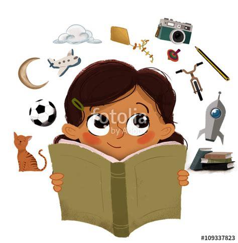 imagenes animadas leyendo un libro quot ni 241 a leyendo un libro imaginando cosas quot fotos de archivo
