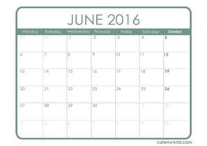june 2016 2016 monthly calendars calendars
