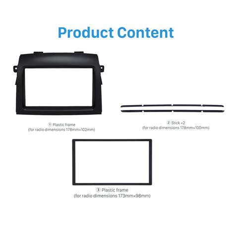 Frame Toyota 2004 2010 excellent 2 din 2004 2010 toyota car radio fascia dash cd frame panel dvd player