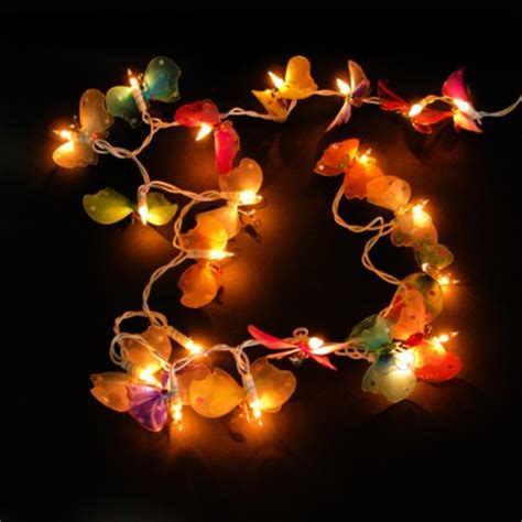 butterfly lights thai silk and bead butterfly string lights