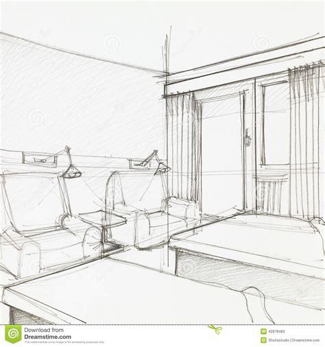 sketch a room detail of hotel room stock illustration image of light