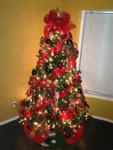 Ribbon christmas tree ideas with mesh ribbon christmas trees decorated
