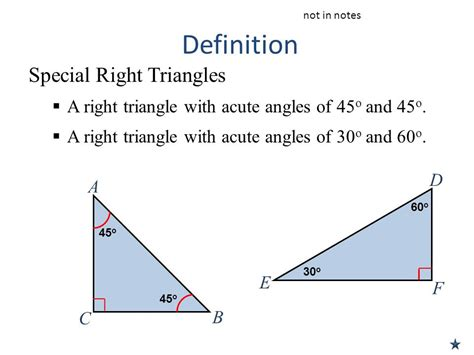 right meaning unit 6 lesson 3 special right triangles ppt download