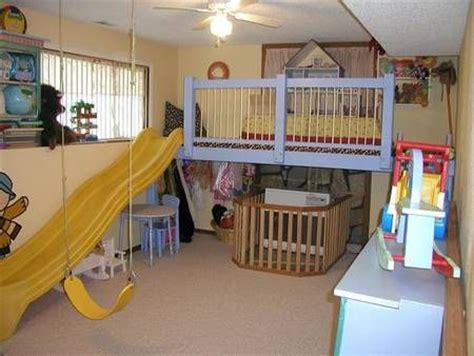 playroom swing indoor play loft with 8 foot slide kid s bedroom ideas