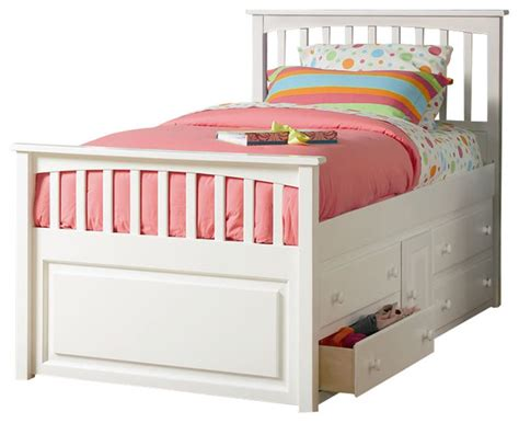 Childrens Bed With Drawers by Atlantic Furniture Mate S Storage Bed With Underbed 4