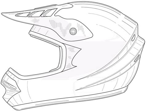 how to draw a motocross bike free dirt bike helmets coloring pages