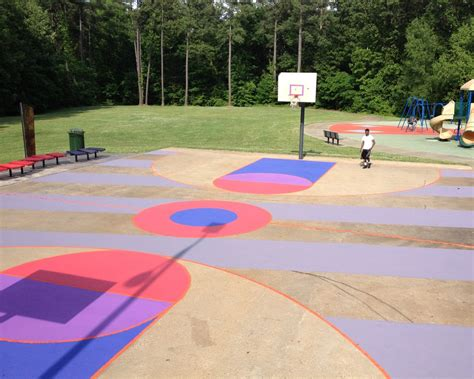 design your own basketball court basketball courts transformed into large scale artworks by