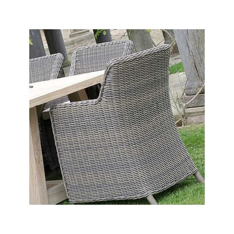 outdoor wicker armchairs tuscany teak table and eight tuscany outdoor wicker