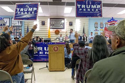 shiprock chapter house trump jr holds 11th hour rally in shiprock navajo times