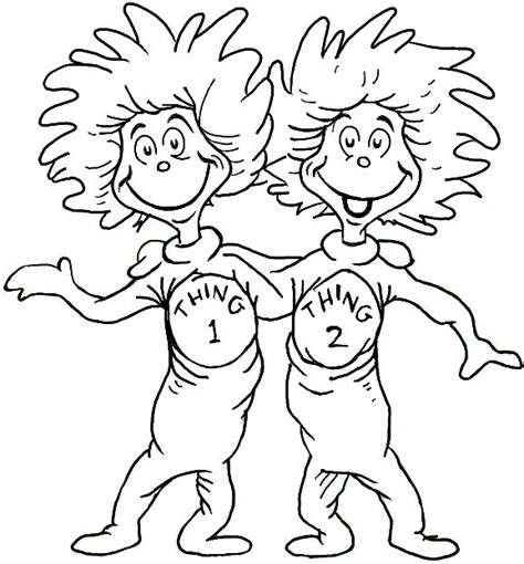 Thing 1 And Thing 2 Coloring Pages Dr Seuss best 25 dr seuss coloring pages ideas on dr seuss images dr seuss hat and dr seuss