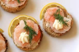 shrimp canapes a la suede