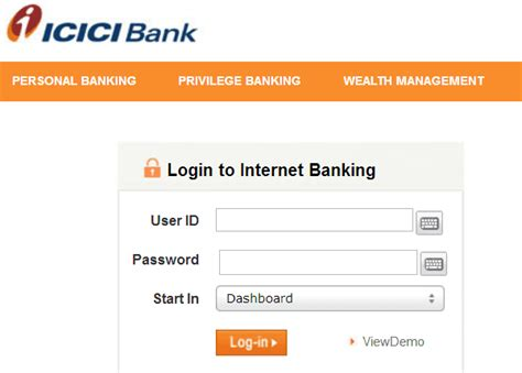 login to icici bank how to icici bank account statement in pdf