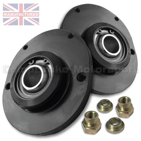 peugeot 207 front fixed suspension top mount pair 207
