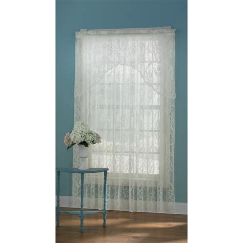 sears lace curtains essential home coraline ivory window panel home home