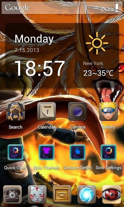 naruto themes for android phones anime naruto hd theme free free android theme download
