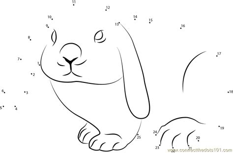 printable rabbit dot to dot cute rabbit dot to dot printable worksheet connect the dots