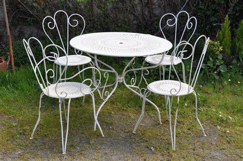 Salon De Jardin Acier by Table De Jardin Acier Fabulous Table De Jardin Acier With