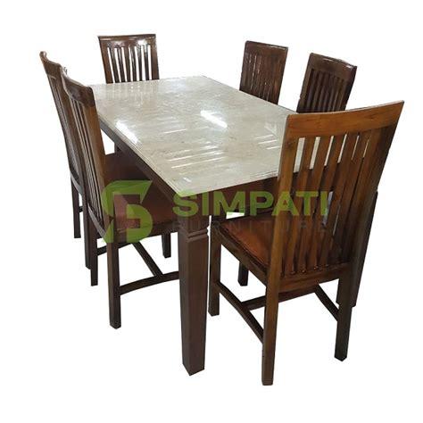 Meja Makan 6 Kursi meja makan makan marmer kayu jati 6 kursi toko kasur