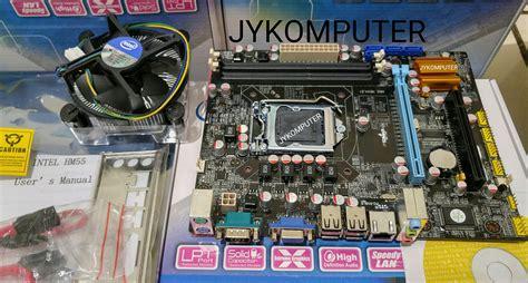 Paket Intel I5 650 3 2 Ghz jual processor i5 650 3 2 ghz motherboard h55 fan