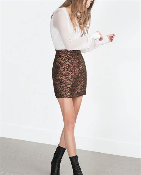 zara mini skirt in lyst