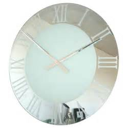 Extra Large Wall Clock by Uk Roco Verre Extra Large Roman Frosted Wall Clock At