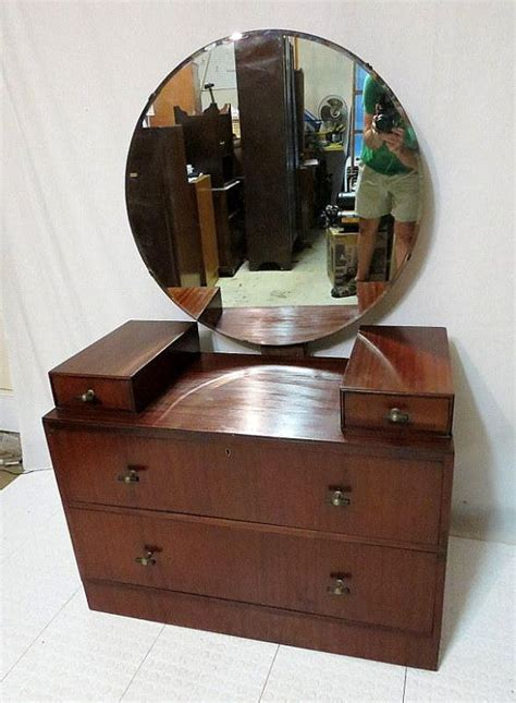 antique vanity mirror with drawers vintage antique mahogany dressing table vanity w round