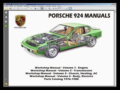 car repair manuals online pdf 1988 porsche 924 security system porsche 924 1976 1988 service manual wiring diagram parts manual