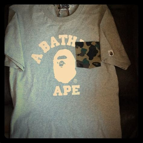 Jual Bathing Ape Bape Tshirt 1 Like Authentic 1 39 bape tops authentic bathing ape bape t shirt
