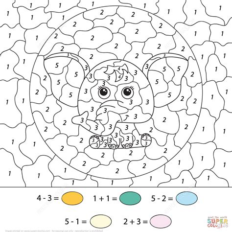 advanced winter coloring pages elephants color number printable coloring pages subtration