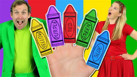 finger color colors finger family learn colors with the finger family