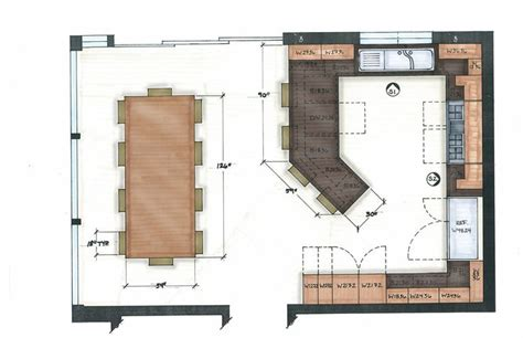 Floor Plans With Large Kitchens by 1000 Ideas About Kitchen Floor Plans On Pinterest