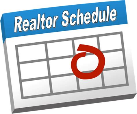 Calendar Add Images A Successful Realtor S Work Schedule Creating Business