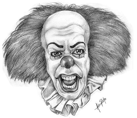 sketch it it the clown by alanrodriguez on deviantart